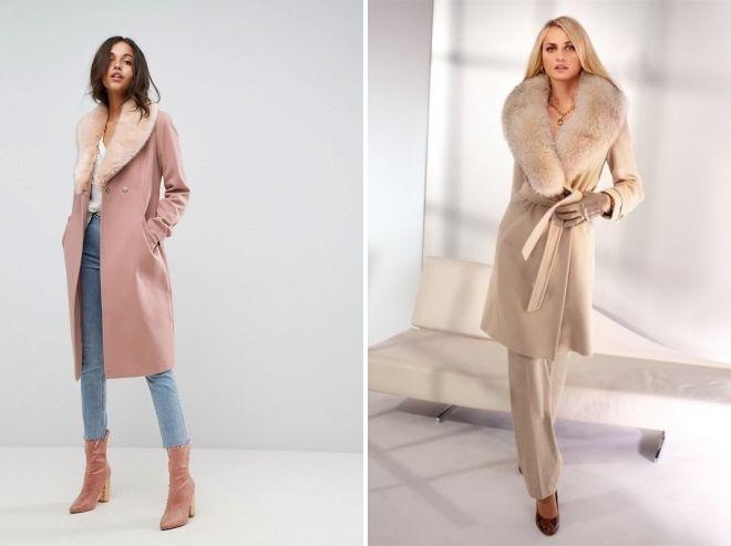 pink coat with fur