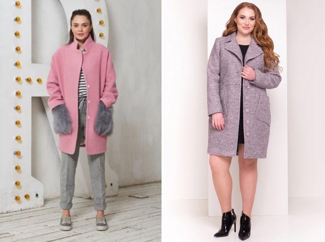 gray pink coat