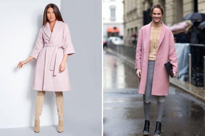 what to wear pink women's coat