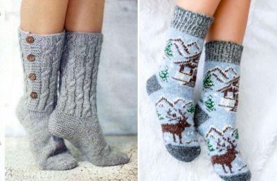 knitted women's socks