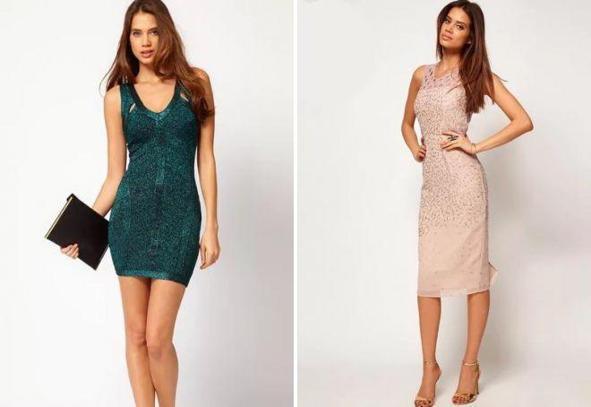 07876c28cbd9 Vybavené večerné sundresses na široké popruhy a rovné siluety čipky sú v  móde. Druhá možnosť je často doplnená o krásnu zákulisia na ...