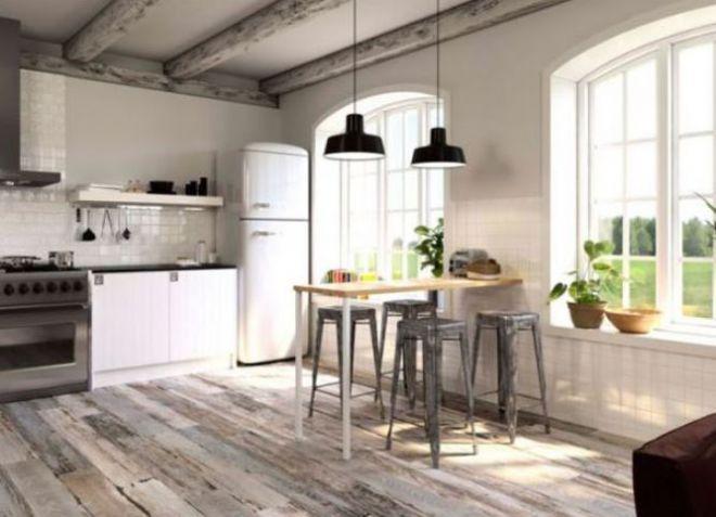 hermosos pisos de cocina Cocina Moderna Bajo Un Rbol De MDF Y Plstico Cocina Bajo