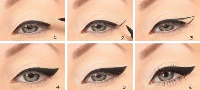 Arrows eyeliner step by step retro options