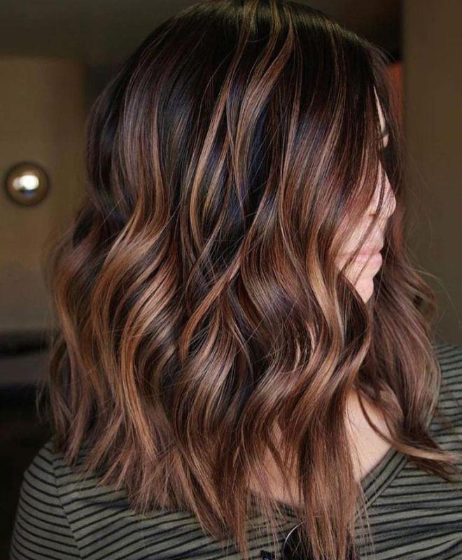 Балаяж на волоссі середньої довжини