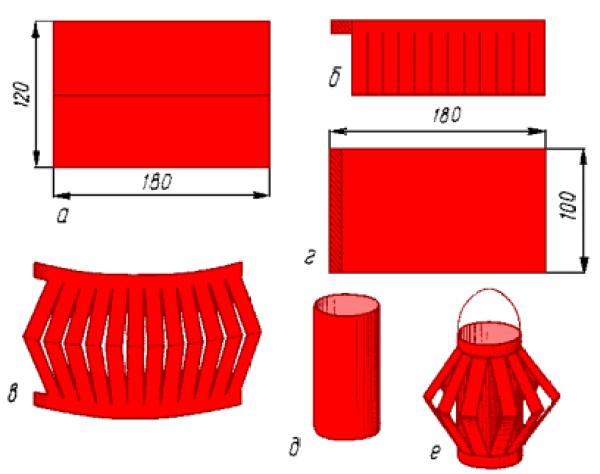 Как сделать новогодние фонарики из бумаги