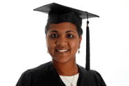 Woman wearing graduation robe and Cap - by Fotolia