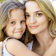 mother and daughter hugging and smiling - Provided by Microsoft