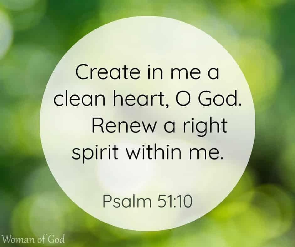 Psalm 51:10 Bible Verse