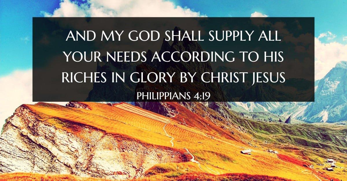 Philippians 4:19 verse image