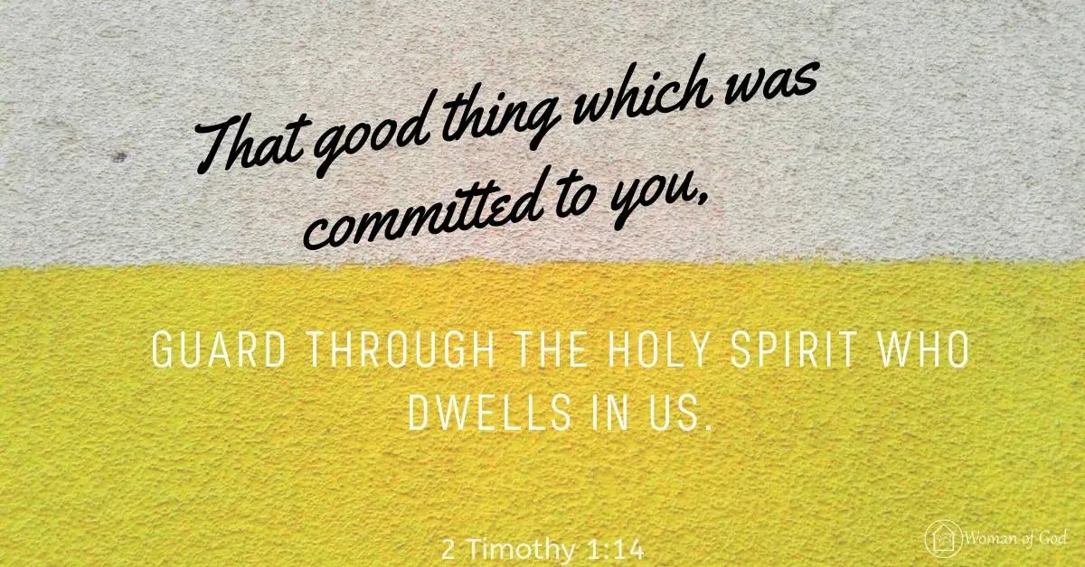 verse of the day 2 Timothy 1:14
