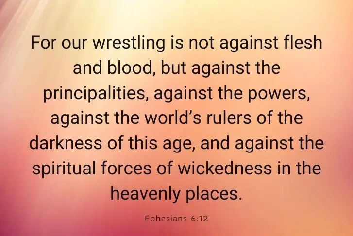 Ephesians 6:12 bible verse