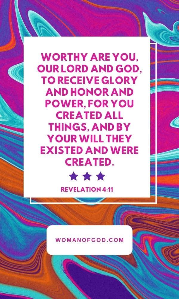bible verse revelation 4:11