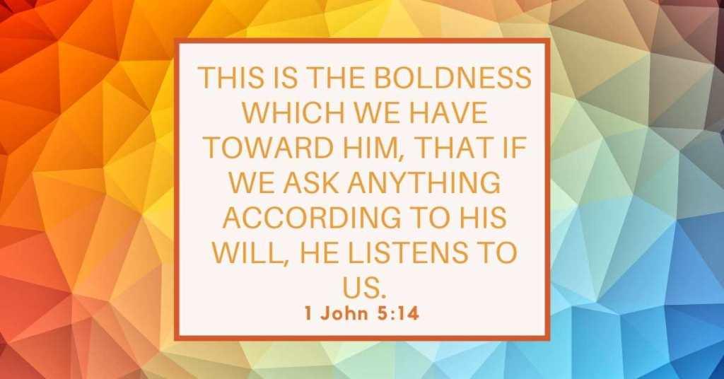 Bible Verse of the Day 1 John 5:14