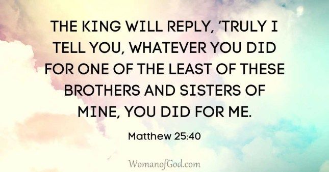 verse of the day matthew 25:40