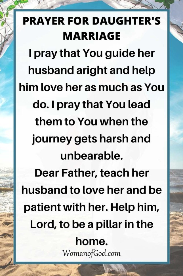 Prayer For Daughter's Marriage