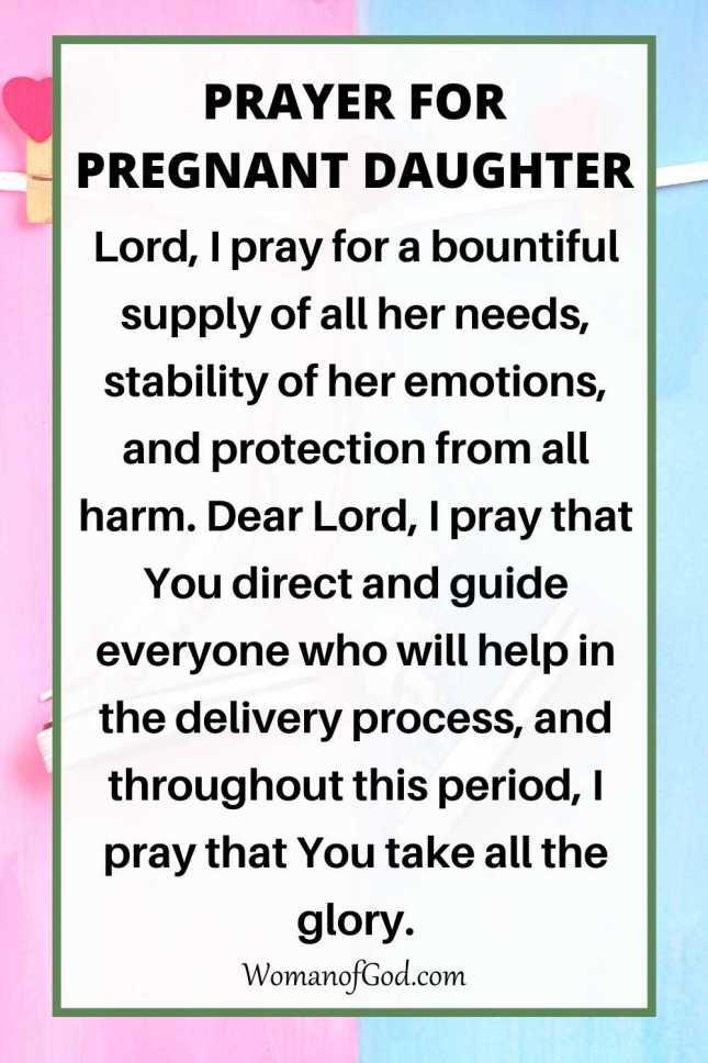 Prayer For Pregnant Daughter