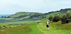 20140617_115751 jane walking toward Ivinghoe Beacon 300