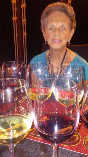 Mom at the wine-tasting musical, Wine Lovers