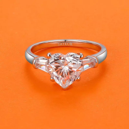 heart shaped sateur ring