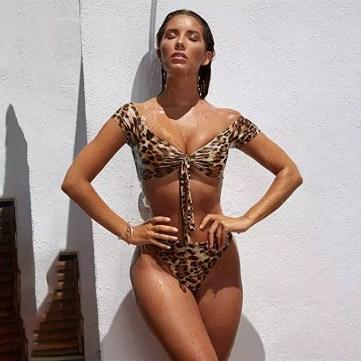 PRETTYGARDEN cheetah print bikini 2