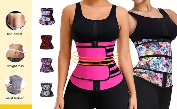Acelitt Women Waist Trainer Weight Loss Corset Trimmer Belt