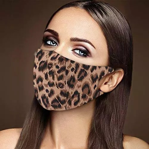 Leopard print face mask for women