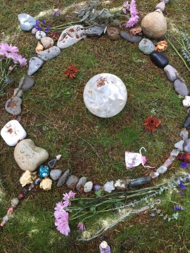 Center of Grandmother Moon Stone Circle