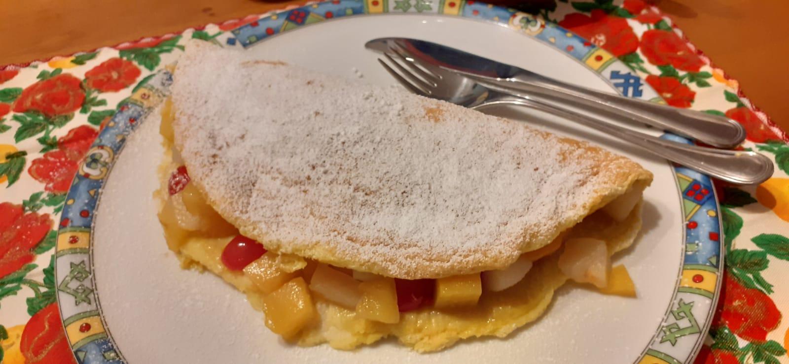 Ricetta Omelette alla frutta