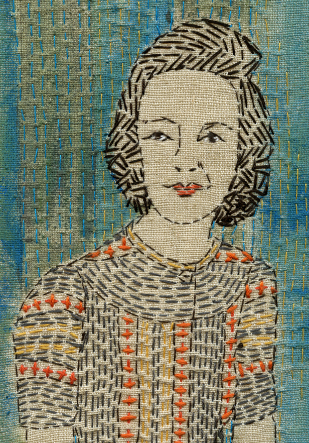 Girl with a patterned Dress 2012