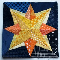 Starry Nights grow - Paper Piecing Monday