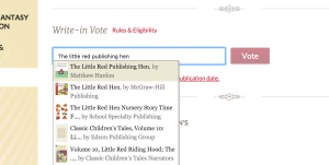 Step 3: Write in the little red publishing hen