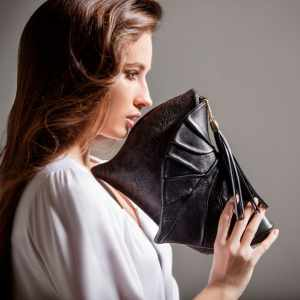 Luxury Clutch Bags. Leaf Drop 1 by Diana Ulanova. Buy on women-bags.com