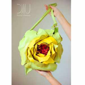 Shoulder Bag Designer. Royal Rose Green/Yellow by Diana Ulanova. Buy on women-bags.com
