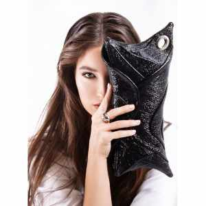 Best Designer Clutch Bags. Scroll Black Glossy by Diana Ulanova. Buy on women-bags.com