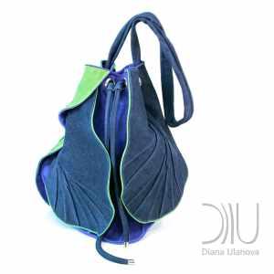 Designer Backpacks Women's. Tulip Blue/Green by Diana Ulanova. Buy on women-bags.com