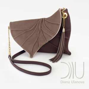 Luxury Clutch Bags. Leaf Drop Brown by Diana Ulanova. Buy on women-bags.com