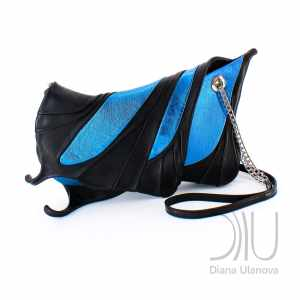 Designer Clutch Bags On Sale. Machaon Blue by Diana Ulanova. Buy on women-bags.com