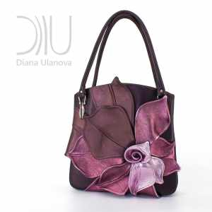 Designer Handbag. Magnolia Burgundy 2 by Diana Ulanova. Buy on women-bags.com