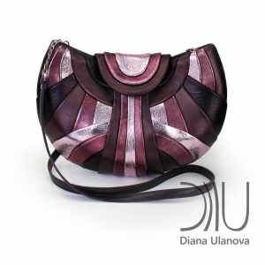 Over The Shoulder Bags Designer. Modern Brown/Purple by Diana Ulanova. Buy on women-bags.com