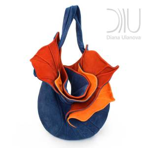 Over The Shoulder Designer Bags. Orchid Blue/Orange by Diana Ulanova. Buy on women-bags.com