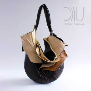 Shoulder Bags Designer. Orchid Brown/Beige 1 by Diana Ulanova. Buy on women-bags.com