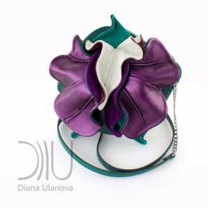 Designer Mini Bags. Orchid Mini Green/Purple by Diana Ulanova. Buy on women-bags.com