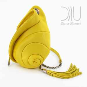 Mini Bags Designer. Escargot Mini Yellow by Diana Ulanova. Buy on women-bags.com