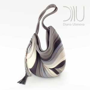 Shoulder Bags Designer. Feather Grey by Diana Ulanova. Buy on women-bags.com