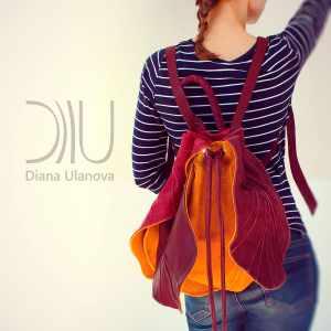 Cute Designer Backpacks. Tulip 2 by Diana Ulanova. Buy on women-bags.com