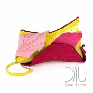 Designer Clutch Bags For Sale. Tropic Yellow/Pink by Diana Ulanova. Buy on women-bags.com