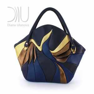 Designers Bags. Paradise Bird Blue/Gold by Diana Ulanova. Buy on women-bags.com