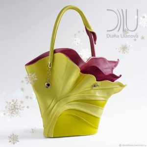 Womens Designer Handbag. Strelitzia Yellow/Red by Diana Ulanova. Buy on women-bags.com