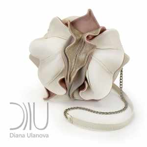 Designer Mini Bags. Orchid Mini White/Grey by Diana Ulanova. Buy on women-bags.com