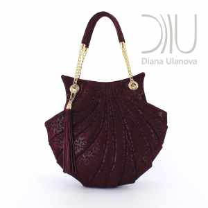 Lady Handbags Designers. Shell Burgundy 1 by Diana Ulanova. Buy on women-bags.com